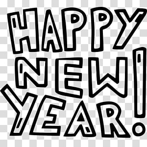 New Year\'s Day Party New Year\'s Eve Drawing, Happy New Year PNG clipart