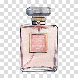 Coco Chanel fragrance bottle illustration, Chanel No. 5 Coco Mademoiselle Perfume, perfume PNG clipart