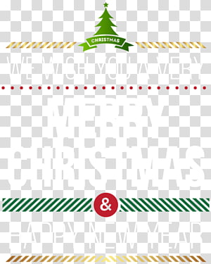 New Year\'s Day Christmas Wish , merry christmas label PNG clipart
