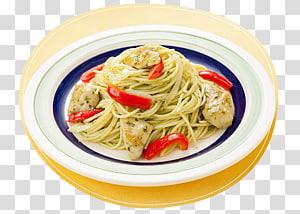 Spaghetti aglio e olio Spaghetti alla puttanesca Pasta al pomodoro Carbonara Taglierini, pasta ingredients PNG clipart