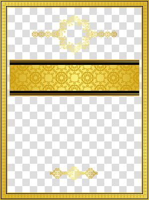 rectangular yellow and black frame illustration, Gold Texture mapping Template Pattern, Golden border texture PNG clipart