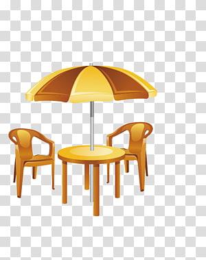 Table Chair Garden furniture Umbrella Patio, Parasol PNG
