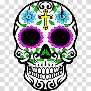 Calavera Mexican cuisine Drawing Skull, skull PNG
