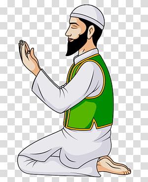 Arab man praying illustration, Prayer Salah Muslim Islam Allah, Islam PNG clipart