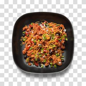 Vegetarian cuisine Chili con carne Food Veggie burger Dish, black beans PNG clipart