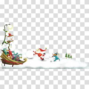 Santa Claus Christmas and holiday season Wish, Santa Claus Christmas snowman snow PNG