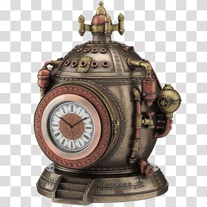 The Time Machine Steampunk Time travel Statue Fantasy, steampunk machine PNG clipart