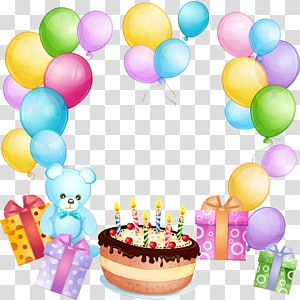Birthday cake Balloon Gift Greeting & Note Cards, joyeux anniversaire PNG clipart