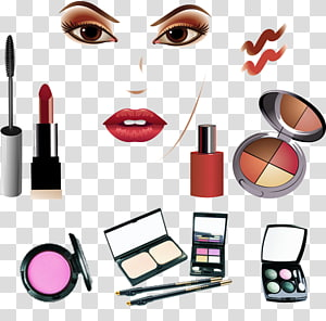 cosmetic product lot illustration, Cosmetics Make-up artist Beauty, Makeup Beauty PNG clipart