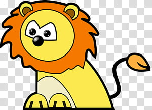 Lion Animation Cartoon , circus lion PNG clipart