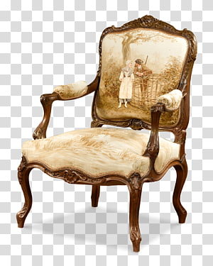 Aubusson Table Chair Furniture Louis Quinze, table PNG