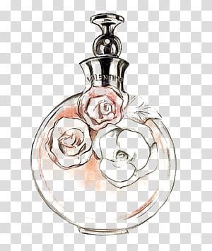 Valentino fragrance bottle , Chanel No. 5 Perfume Drawing Watercolor painting, perfume PNG clipart