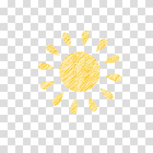 hand-painted sun PNG