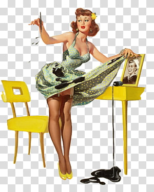 The Art of Pin-up Pin-up girl Poster Retro style, pin ap PNG