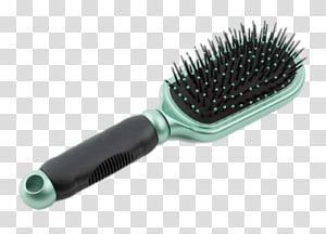 green and black hair brush, Hair Brush Black and Green PNG clipart