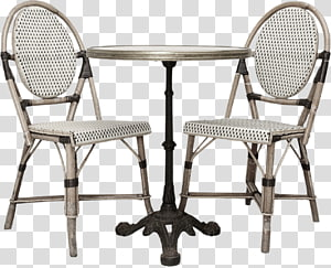Table Bistro Cafe French cuisine No. 14 chair, table PNG