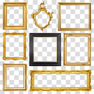 french frame PNG clipart