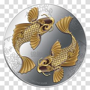 Koi Feng shui New Zealand Mint Silver, koi fish drawing PNG clipart