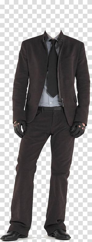 Suit T-shirt Clothing, Men's suits, men's black suit jacket and pants PNG