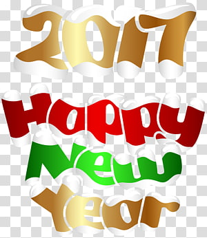 New Year's Day Christmas Day , 2017 Happy New Year , 2017 Happy New Year 3D PNG clipart