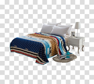 Bed sheet Bed frame Furniture, bed PNG clipart