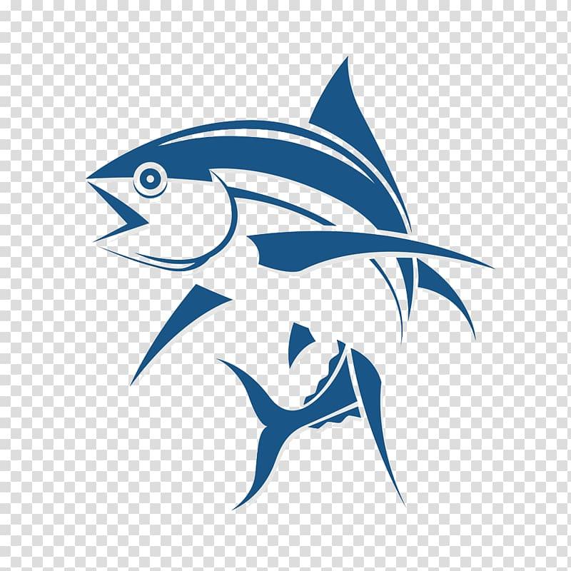 blue fish logo illustration, Logo Fishing Tuna, Fish cartoon logo design PNG clipart