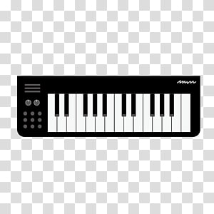 cartoon black keyboard PNG