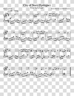 Sheet Music City Of Stars Song Piano, sheet music PNG clipart