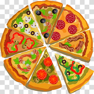 pizza with toppings , Pizza Italian cuisine Poster Illustration, Pizza PNG clipart