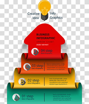 Business Infographic, Infographic Diagram Chart Arrow, Business Information schematic diagram PNG