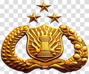 gold lapel pin, Indonesian National Police The Tribrata Symbol Lambang Pramuka, polda PNG clipart