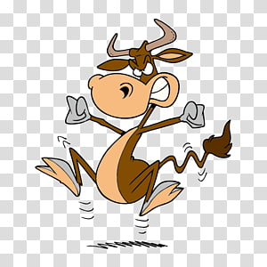 mad cow animal cartoon avatar PNG clipart