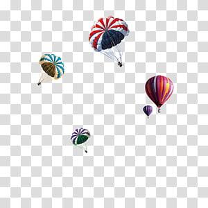 Hot air balloon Parachute, Hot Air Balloon Parachute PNG