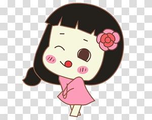 Cartoon Face Animation, Cartoon girl face closeup PNG clipart