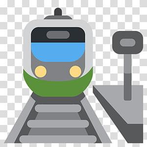 Train station Rail transport Tram Emoji, silhouette of high speed rail PNG