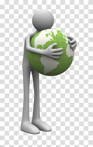 creative 3d 3d cartoon villain,the white man holding earth PNG clipart