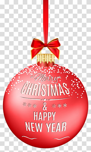 merry christmas ball Christmas Red Ball Christmas ornament , Happy New Year PNG