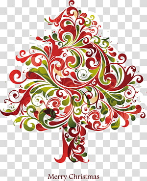 Irregular elements Christmas tree PNG
