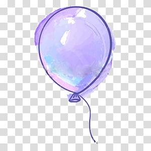 purple balloon illustration, Balloon Purple Drawing, Purple balloon PNG