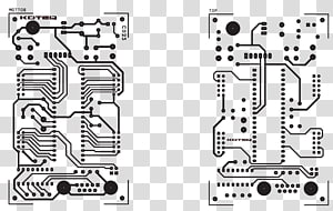 ATmega16 Microcontroller Electronic circuit Printed circuit board Project, robot circuit board PNG clipart