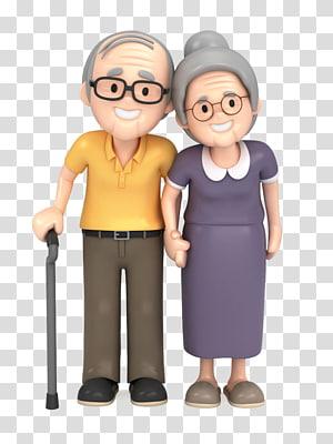 cartoon elderly PNG