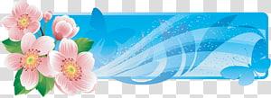 Flower Banner , floral banner PNG