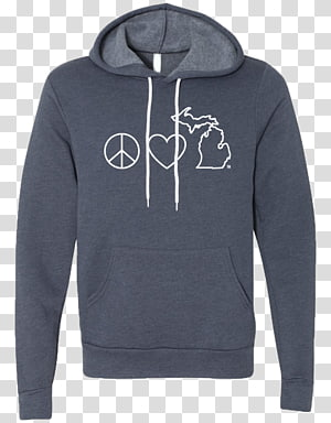 Hoodie T-shirt Bluza Clothing, Peace and love PNG