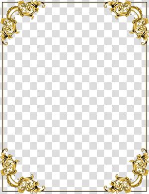 gold floral boarder illustration, frame , Gold Border Frame PNG clipart