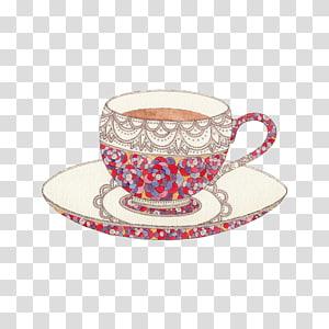 Teacup Mug, afternoon tea PNG