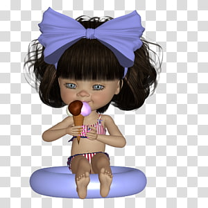 Doll Toddler Figurine, Biscuit Cookie PNG