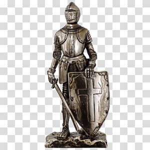 Crusades Middle Ages Figurine Knight Statue, Knight PNG