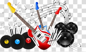 Musical instrument, electric guitar PNG