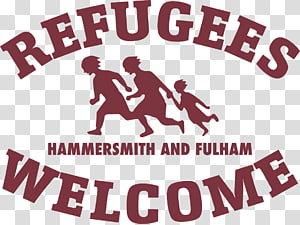 Fulham All Refugees are Welcome Logo Brand, Fulham PNG clipart