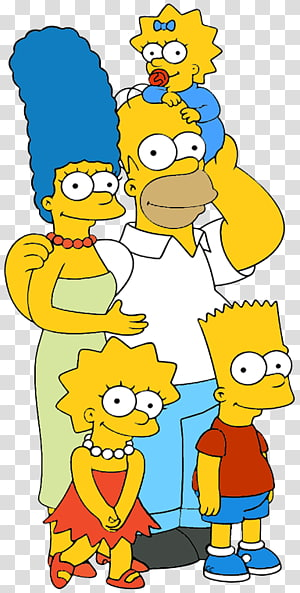 Homer Simpson Bart Simpson Marge Simpson Maggie Simpson Standee, Happy Family cartoon PNG